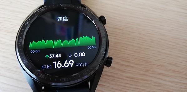 運動履歴(ワークアウト記録)速度