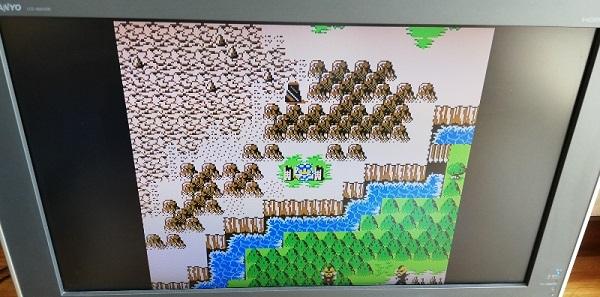 ゲーム開始直後のフィールド画面