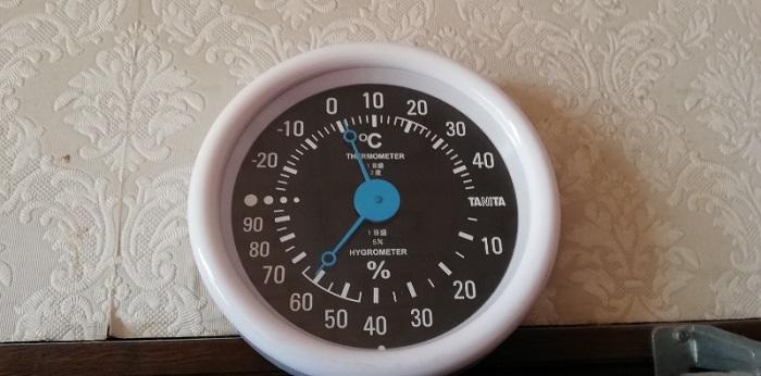 ある冬の日の私の部屋の気温 AM7:00頃