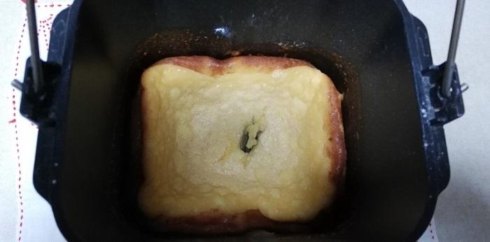 チーズケーキを一時間冷やした