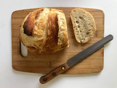 ホームベーカリーで作った焼き立てのパンの切り方!
