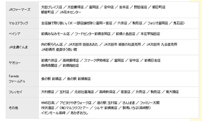 ぺスカドレッシング取扱店