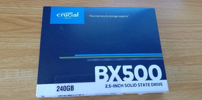 Crucial(クルーシャル)SSD BX500レビュー!速くて快適!