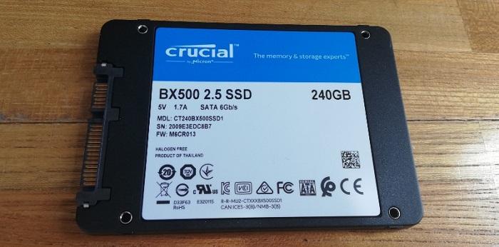 Crucial SSD BX500 240GB中身裏
