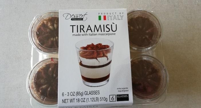 コストコのティラミスカップ6個入り!甘すぎず飽きずに食べられる!