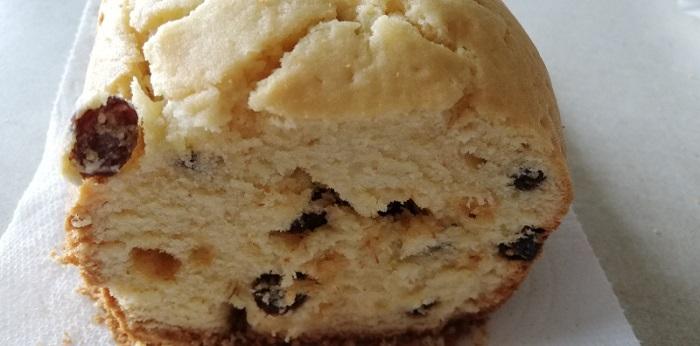 ラムレーズンケーキの断面