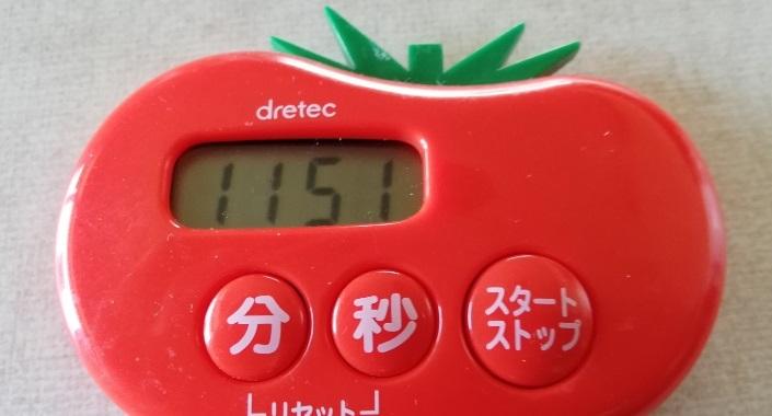 セリア着火剤の燃焼時間は11分51秒