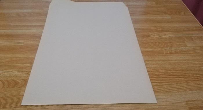 今回使用するA4サイズの封筒です。